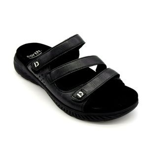 Earth Mira Loures Strappy Slide Sandal 8W New